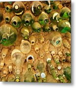 Bottles In The Wall Metal Print