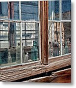 Bottles In The Window Metal Print
