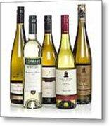 Bottles Of New Zealand Wine Metal Print