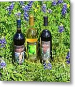 Bottles Of Wine Metal Print