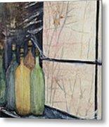 Bottles Of Wine In Cellar Metal Print by Anais DelaVega