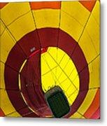 Bottoms Up Hot Air Balloon Metal Print