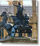 Boudicca Statue And Parliament 5805 Metal Print