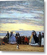 Boudin's The Beach At Villerville Metal Print