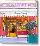 Boulangerie Patisserie In Paris Metal Print