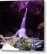 Boulder Cave Falls  Metal Print