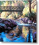 Boulder Creek Bridge Metal Print