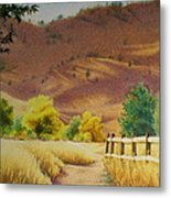 Boulder Foothills In Autumn Metal Print