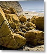 Boulders On The Beach At Torrey Pines State Beach Metal Print