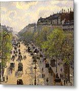 Boulevard Montmarte Metal Print
