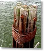Bound And Bolted Metal Print