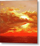 Bound Of Glory - Red Sunset  Metal Print