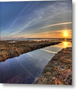 Boundary Bay B.c Sunset Metal Print