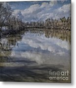 Boundary Channel Reflections Metal Print by Terry Rowe