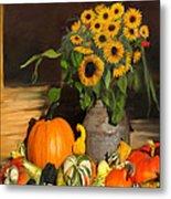 Bountiful Harvest - Floral Painting Metal Print