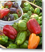 Bountiful Peppers Metal Print
