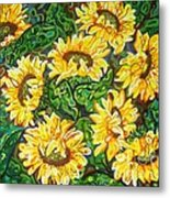 Bountiful Sunflowers Metal Print