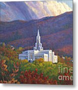 Bountiful Temple In The Mountains Metal Print