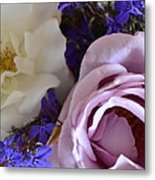 Roses And Violets  Metal Print