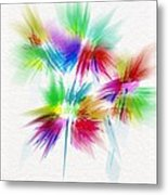 Bouquet In The Sun Abstract Metal Print