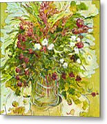 Bouquet Jaune - Original For Sale Metal Print