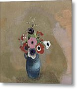 Bouquet Of Anemones Metal Print by Odilon Redon