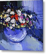 Bouquet Of Daisies And Chrysanthemums Metal Print