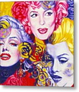 Bouquet Of Marilyn Metal Print by Rebecca Glaze