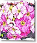 Bouquet Of Pink Metal Print