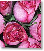 Bouquet Of Pink Roses Metal Print
