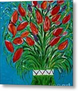 Bouquet Of Red Metal Print