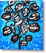 Bouquet Of White Poppies Metal Print