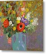 Bouquet Of Wild Flowers  Metal Print by Odilon Redon