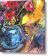 Bouquet With Black Tulip Metal Print