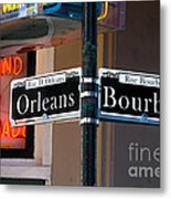 Bourbon And Orleans Metal Print