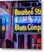 Bourbon Street Blues Metal Print