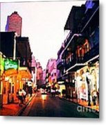 Bourbon Street Early Evening Metal Print