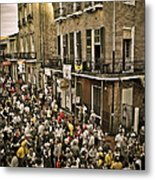 Bourbon Street Party Metal Print
