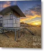 Bournemouth Beach Sunrise Metal Print