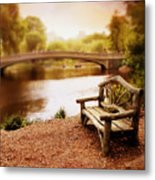 Bow Bridge Nostalgia 2 Metal Print