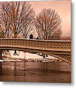 Bow Bridge Panorama Metal Print