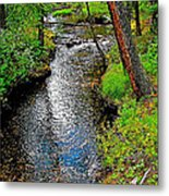 Bow River Near Lake Louise Campground In Banff National Park-ab Metal Print