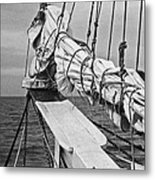 Bow Sprit In Bnw Metal Print