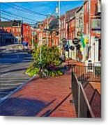 Bow Street Looking Downhill Towards Market Street Metal Print