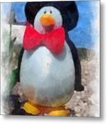Bow Tie Penguin Photo Art Metal Print
