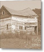 Bowed And Lonely Barn Metal Print