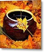 Bowl And Leaves Metal Print