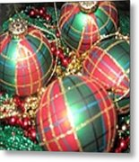 Bowl Of Christmas Colors Metal Print