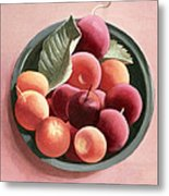 Bowl Of Fruit Metal Print by Tomar Levine