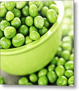 Bowl Of Green Peas Metal Print by Elena Elisseeva